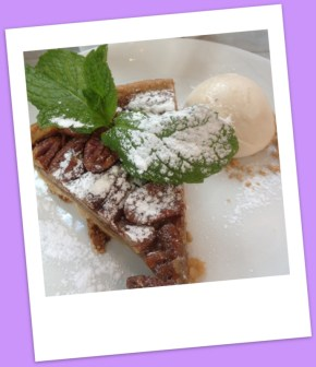 Warm pecan pie & malted  banana ice-cream