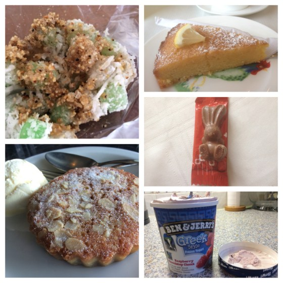 Ben & Jerry's, Greek yogurt, Malteaster,  Durleighmarsh Tea Barn, lemon polenta, cake, bakewell tart, Capers, Southsea,  rice balls, Vietnam, backpacking, sweet treats. lovelifelovecake