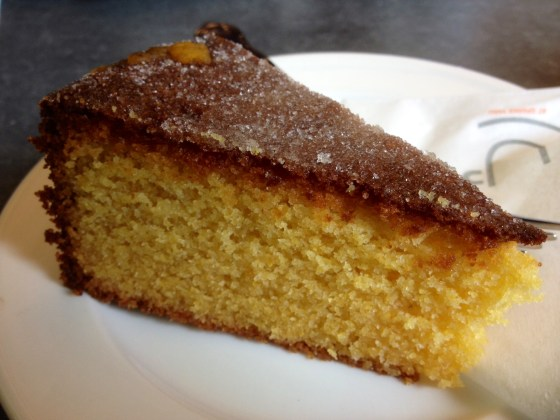 Orange, almond and xxx polenta cake