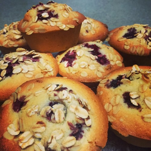Berry and White Chocolate Friands