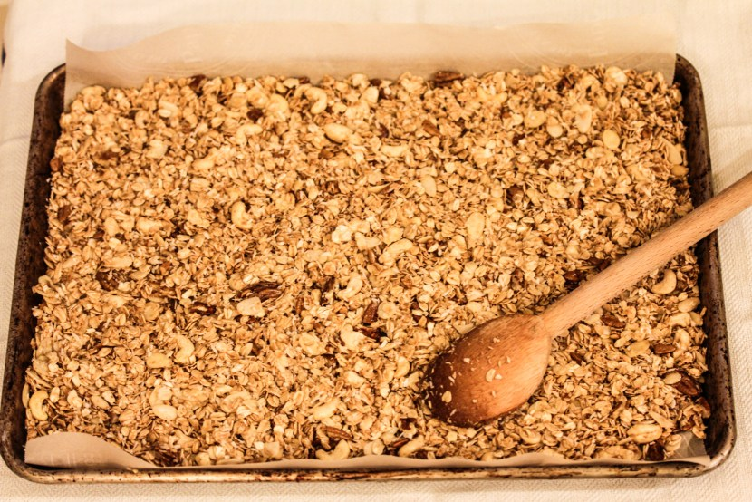 For clumpy granola- do this