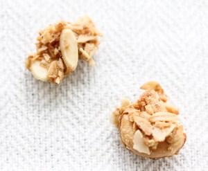 homemade granola clumps