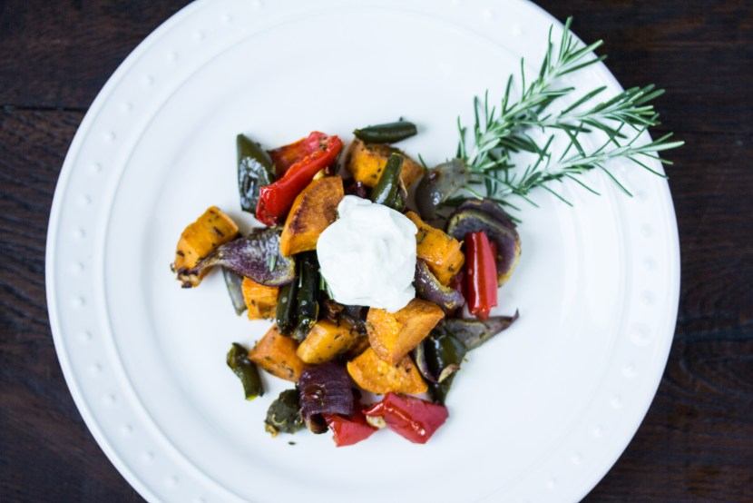 Roast Sweet Potatos and Peppers