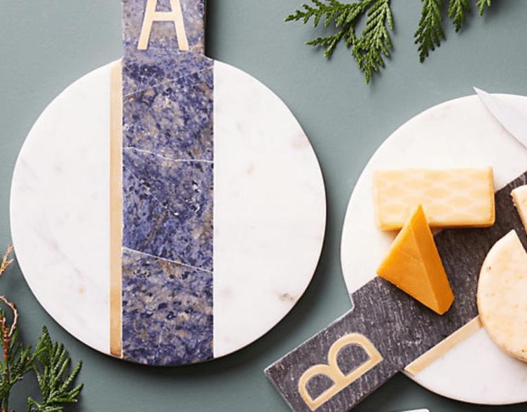Monogram Marble Cheeseboard