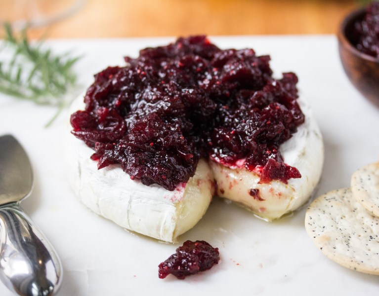 Holiday sides, Baked Brie with Cranberry Chutney