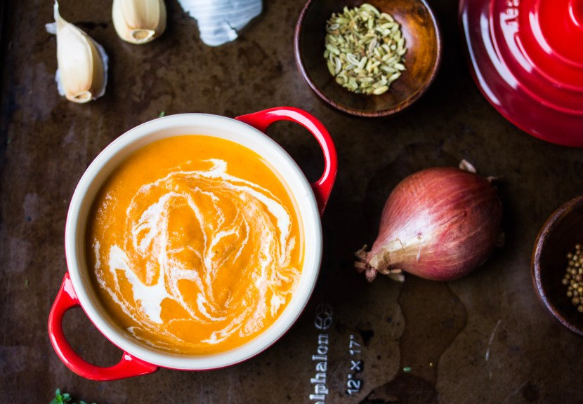 Roast Tomato Bisque with fennel seed