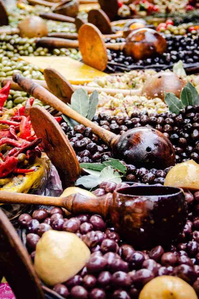 Provence Market olive stand