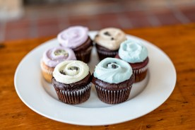 Brownie, Red Velvet, Vanilla, Mint Chocolate Chip and Mocha Cupcakes