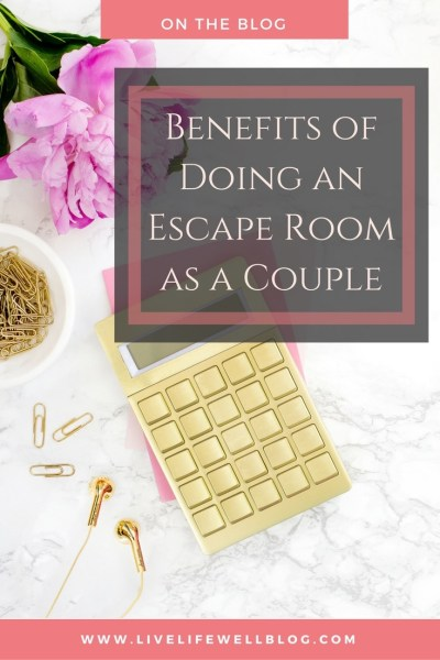 I'm convinced that every couple should do an escape room together! In so many ways, the experience is similar to marriage overall. Doing an escape room gives you an opportunity to work on a lot of skills that are required for a true partnership. Read more on LiveLifeWellBlog.com