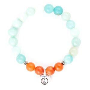 Amazonite & Red Aventurine Bracelet