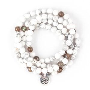 Howlite 108 Bead Bracelet