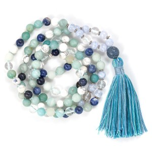 Blue Gemstone Mala