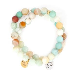 Frosted Amazonite Charm Bracelet
