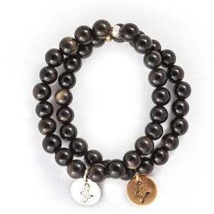 Obsidian Charm Bracelet