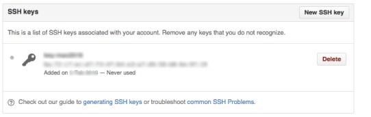 SSHKey設定の完了