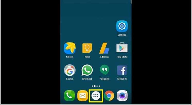 Android OS home screen