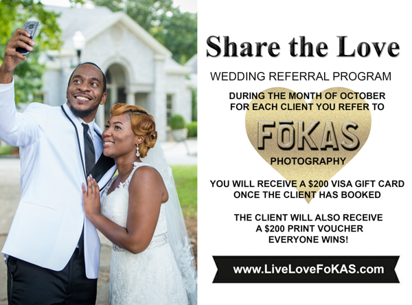 Share the Love – Wedding Referral Program