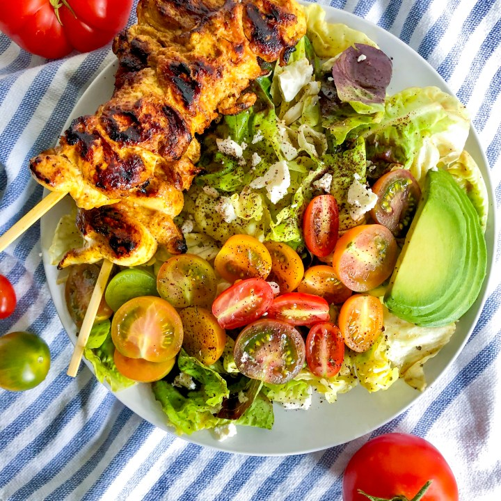 Fattoush Salad with Chicken Shawarma