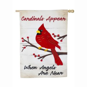 When Angels Are Near House Linen Flag