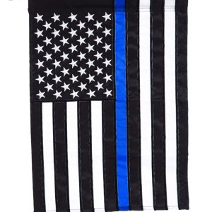 Thin Blue Line House Applique Flag