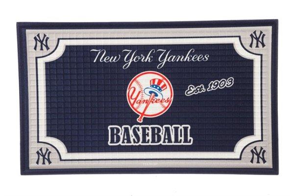 Embossed Door Mat New York Yankees