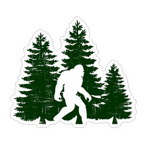 Big foot walking woods