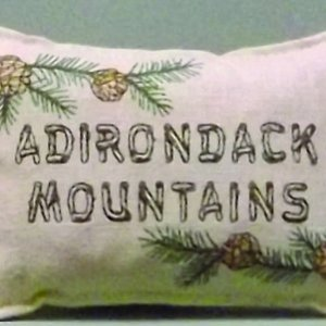 Adirondack Mountains Embroidered