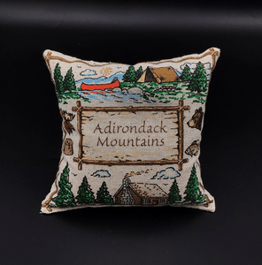 Adk mtn scene pillow