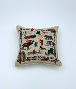6 x 6 ADK embroidered pillow