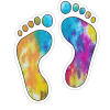 Tie Dye Feet decal