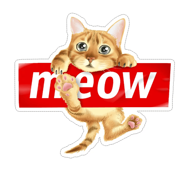 Meow cat decal