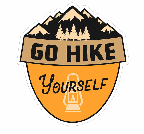 Go Hike Yourself decal