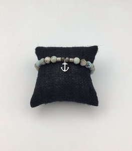 TJazelleSOLD OUT Turquoise Jasper Stone Bracelet with Anchor