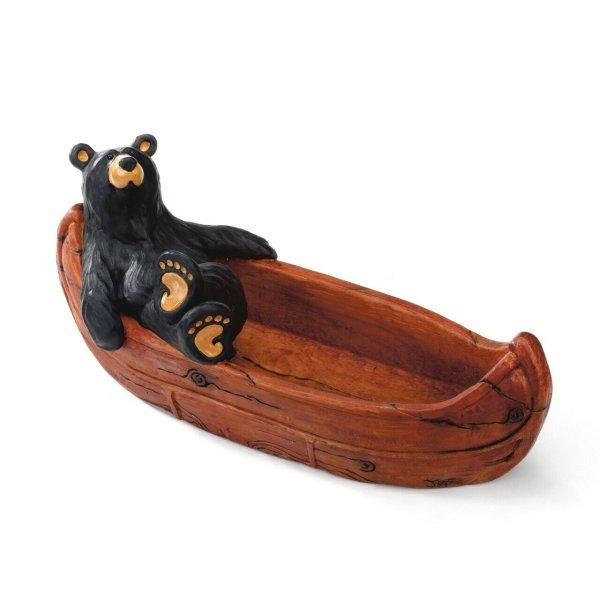 bear in canoe