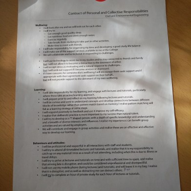 Learning Contract (Civil Engineering)