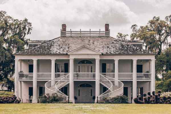 Evergreen Plantation main house in New Orleans