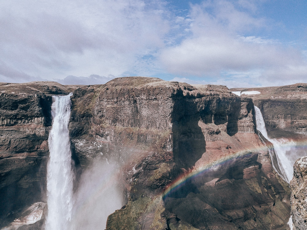 Haifoss and Granni waterfall in Iceland. Find the top 5 waterfalls in Iceland that you don't want to miss on a Ring Road road trip.