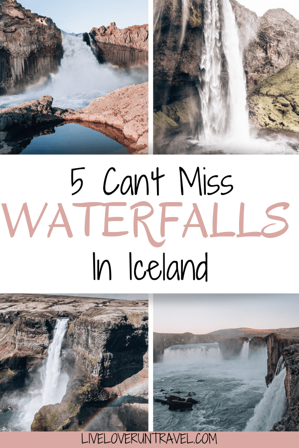 With so many waterfalls in Iceland to see and usually so little time, here are the top 5 waterfalls in Iceland that you don't want to miss. Click for advice on the best time to visit, where to get the best pictures, and everything else you need to make sure you don't miss out. #iceland #icelandtravel #icelandwaterfall
