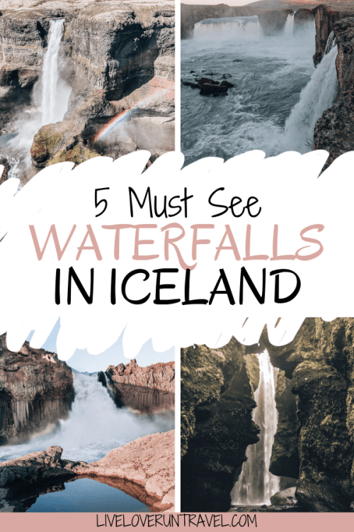 Iceland is a country full of stunning waterfalls. Driving Iceland's ring road puts you in proximity to hundreds of amazing places to explore. After driving Iceland's ring road, here are the top 5 waterfalls in Iceland that you don't want to miss. #iceland #icelandtravel #icelandwaterfalls