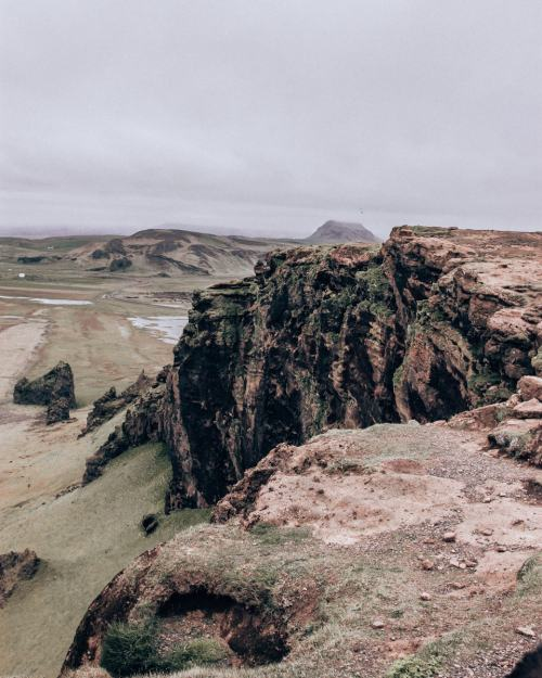 Cliffs at Dyrholaey in Iceland near Vik. Get all of our best Iceland travel tips with our full Iceland itinerary here.
