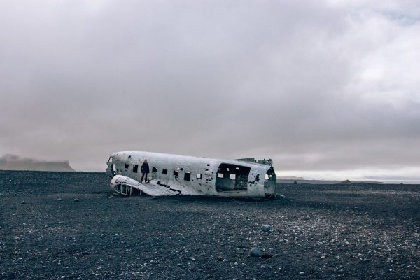 Solheimasandur plane wreck in Iceland is a popular hiking destination. Get our full Iceland travel guide with our 6 day Iceland itinerary here.