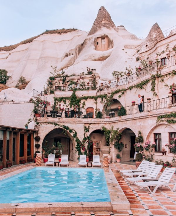 Local Cave House Hotel has one of the most famous pools in Cappadocia and typically books months in advance. Click for a guide to Cappadocia's must see locations and most Instagramable places.