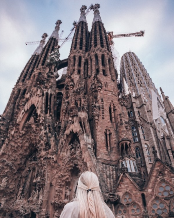 The Nativity Facade of Sagrada Familia in Barcelona. Get a full itinerary with all the best things to do in Barcelona in 3 days here.