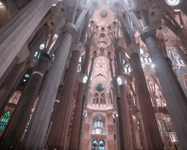 Make sure to look up at the ceiling inside Sagrada Familia to take it all in. Find all the best things to do in Barcelona in 3 days here!