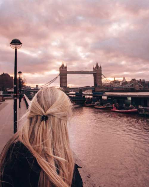 View of Tower Bridge from Coppa Club Igloos in London. Click here for a 3 day London itinerary plus all the best Instagram photo spots in London.