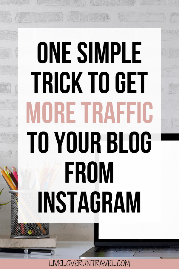 How to use one simple and easy trick to drive more traffic to your blog from Instagram today! #blogging #instagram #socialmedia tips for blogging | blogging tips for beginners | blogging 101 | beginners blogging | get traffic to your blog | grow blog traffic | get more blog traffic | blog traffic tips | how to get blog traffic | increase blog traffic | blog traffic instagram | instagram link in bio | how to blog for money | how to grow your blog | blog growth | grow your blog with instagram