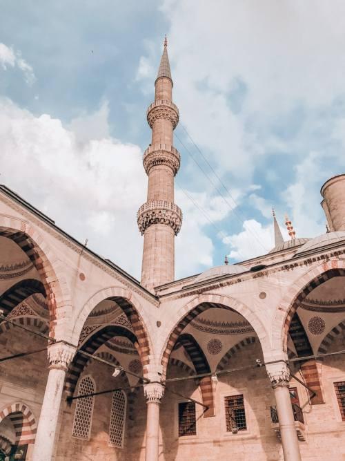 在蓝滩的伊斯坦布尔的清真寺。