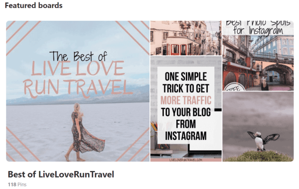 My Best of Board on Pinterest features my blog posts and stays at the top of my profile. Click here to get 15 Pinterest tips to grow your blog.