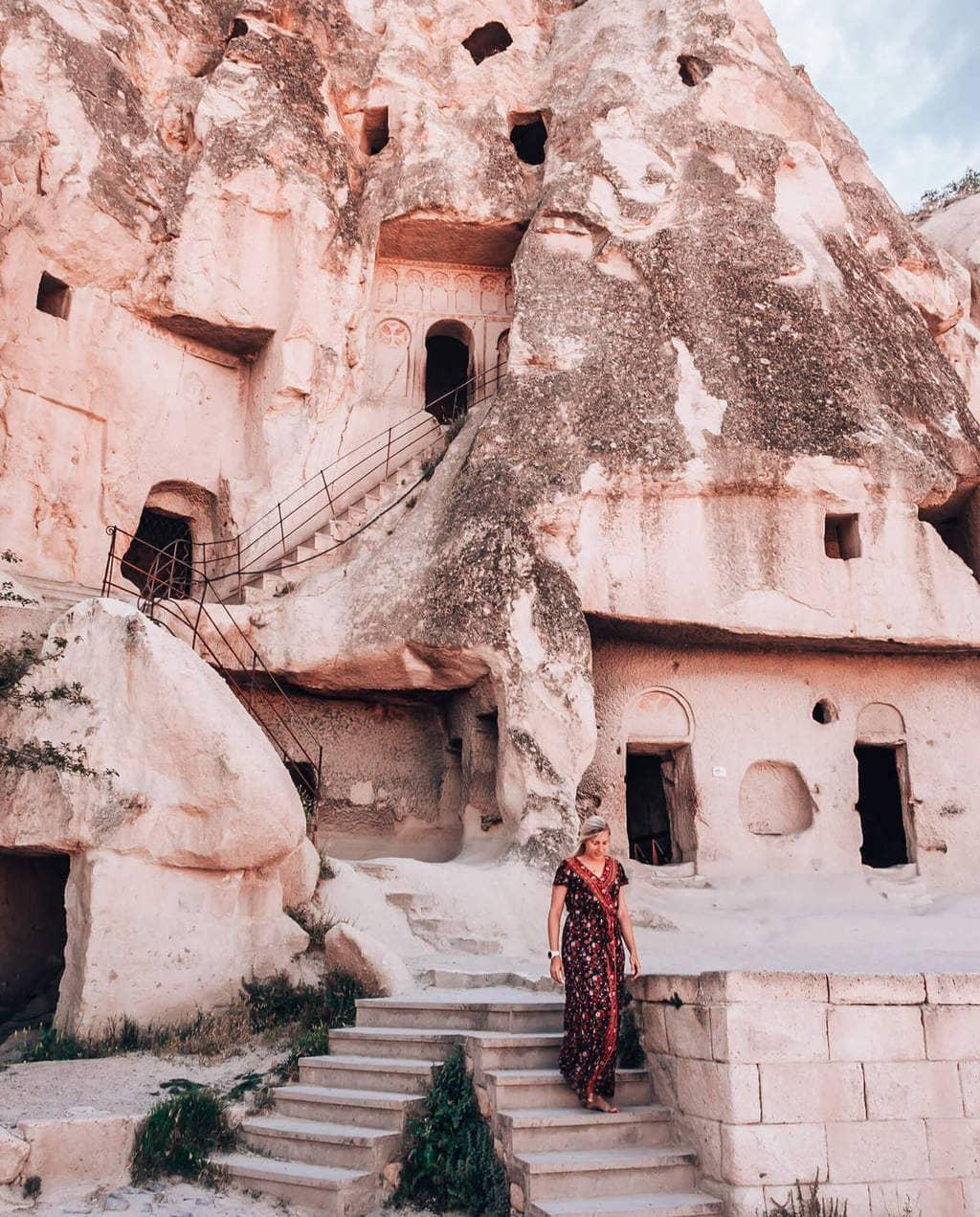 Cave church in Cappadocia Turkey