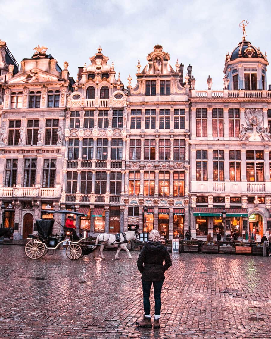 Grand Place in Brussels Belgium at night